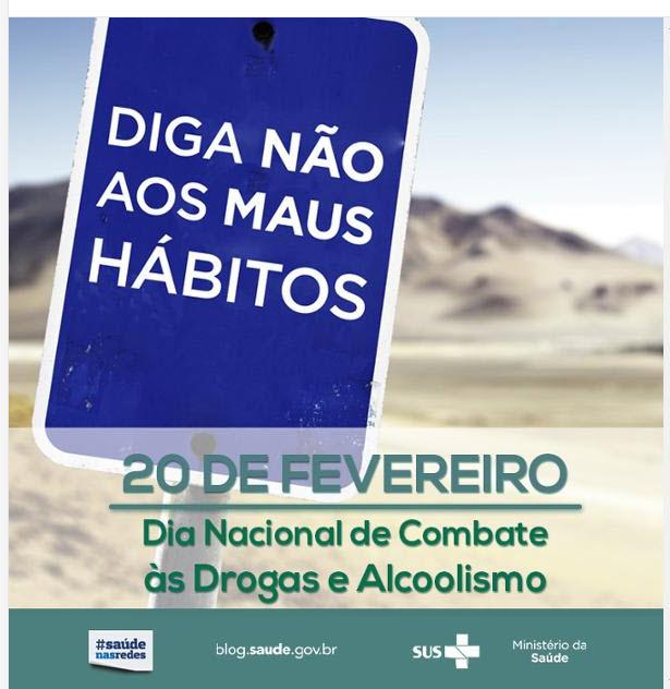 Resultado de imagem para 20 de fevereiro dia nacional de combate as drogas